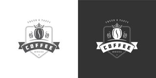 Free Coffee Shop Logo Template Vector Illustration With Bean Silhouette Good For Cafe Badge Design And Menu Decoration Stock Photo - 191895050