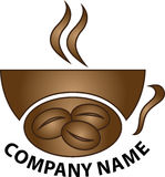 Coffee shop logo. A vector drawing represents coffee shop logo design Stock Images