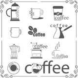Coffee shop logo in vector Royalty Free Stock Photography