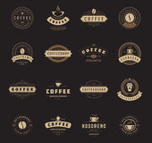 Coffee Shop Logos, Badges and Labels Design Royalty Free Stock Photos