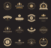 Coffee Shop Logos, Badges and Labels Design Stock Photo