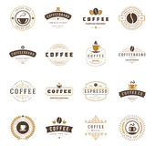 Coffee Shop Logos, Badges and Labels Design Royalty Free Stock Photo