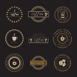 Coffee Shop Logos, Badges and Labels Design Elements set. Royalty Free Stock Photo