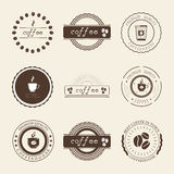 Coffee Shop Logos, Badges and Labels Design Elements set. Stock Photography