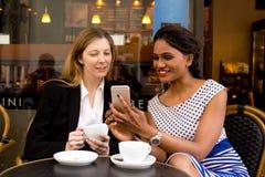 Coffee shop meeting Stock Photo