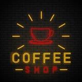 Coffee Shop Neon stock illustration