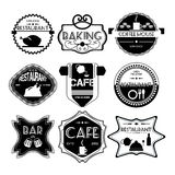 Coffee shop, restaurant Set retro vintage badges, ribbons, label Royalty Free Stock Photo