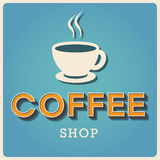 Coffee shop Retro type font Royalty Free Stock Photos