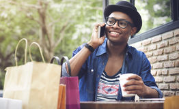 Coffee Shop Shopping  Relaxation Purchase Youth Concept Stock Photos