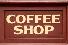 Coffee Shop Sign Royalty Free Stock Photography