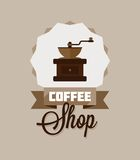 Coffee Shop Sign or Logo Royalty Free Stock Photography