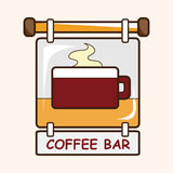 Coffee shop signs theme elements vector,eps Royalty Free Stock Images