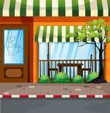 Coffee shop on the street vector illustration
