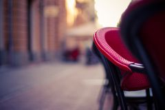 Coffee Shop, street view, bokeh background Stock Photo