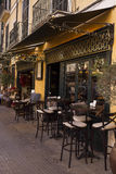 Coffee shop. Terrace outside in the street Royalty Free Stock Photography
