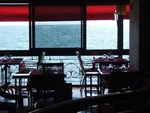 Coffee shop at Thessaloniki stock photo