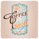The coffee shop typographic design template Stock Photos