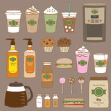 Coffee Shop. Vector illustration of coffee shop and bakery graphics Stock Image