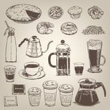 Coffee shop vintage design element Royalty Free Stock Image