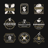 Coffee shop vintage isolated label set Stock Photo