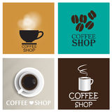 Coffee shop vintage vector set Royalty Free Stock Image