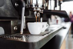 Coffee shop work and interiors stock photos