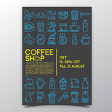 Coffee shopaffisch Royaltyfri Bild
