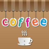 Coffee shopfront sign Royalty Free Stock Image