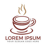 Coffee shoplogodesign Royaltyfria Bilder