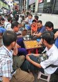 Coffee shops at Bogyoke Market in Yangon Royalty Free Stock Photos