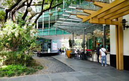 Coffee shops at business district in Manila, Philippines Stock Image