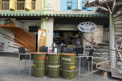 Coffee shops at Chinatown in Singapore Stock Photos
