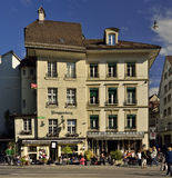 Coffee and shops in city of Bern. Switzerland. Coffee, restaurants and shops in city of Bern. Switzerland Royalty Free Stock Image