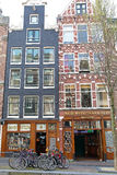 Coffee shops in Red light district at Amsterdam, Netherlands royalty free stock photo