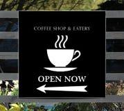 Coffee shoptecken Arkivbild