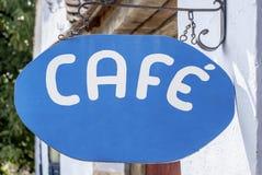 Coffee shoptecken Royaltyfria Foton
