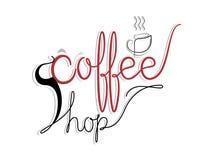 Coffee shopvektorillustration Arkivbilder