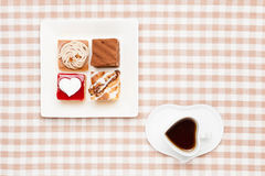 Coffee and shortcakes Stock Photo