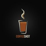 Coffee shot glass design background Stock Image