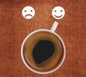 Coffee showing smiling face Royalty Free Stock Photography