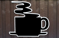 Coffee sign. Blank black coffee cup sign with space for text Royalty Free Stock Photography