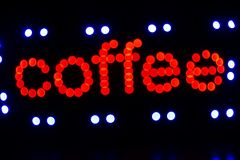 Coffee sign Stock Photos