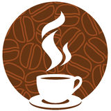 Coffee sign royalty free illustration