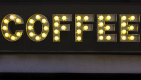 Coffee Sign on a Cafe Royalty Free Stock Images