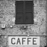 Coffee sign in Italy Royalty Free Stock Photo