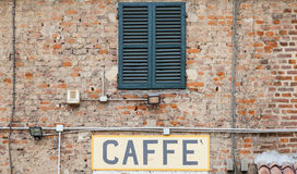 Coffee sign in Italy Stock Photos