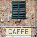 Coffee sign in Italy Stock Image