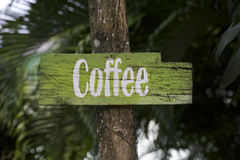 Coffee sign. Royalty Free Stock Photo