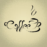 Coffee sign  with the title. ideal for cafe menu Royalty Free Stock Photo