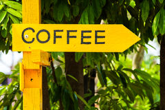 Coffee sign Royalty Free Stock Photography